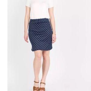 Navy & White Dot Live In Skirt by Agnes & Dora XXL